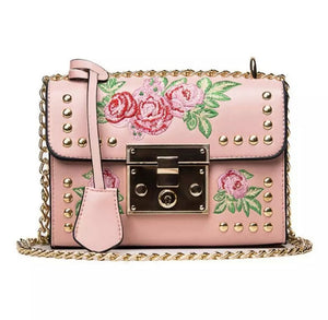 Flora Studded Messenger Bag- 3 Colors