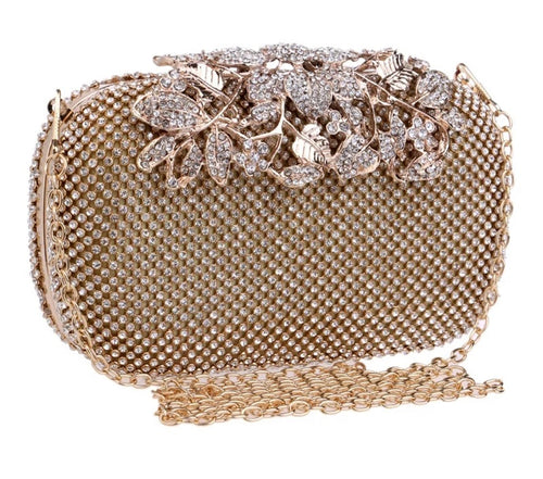 Rhinestone Evening Clutch- 3 Colors