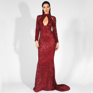 5th Avenue Gown- Deep Red
