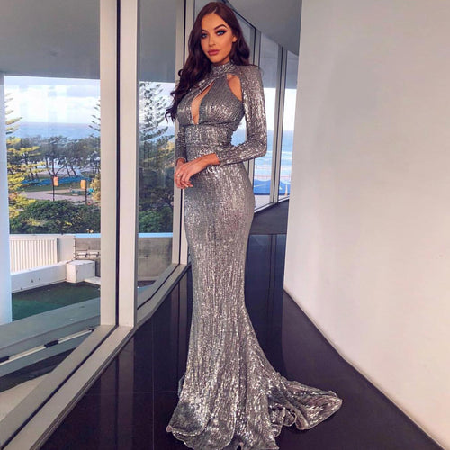 5th Avenue Gown- Grey
