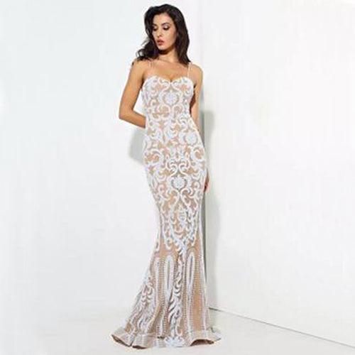 Abby Gown- White