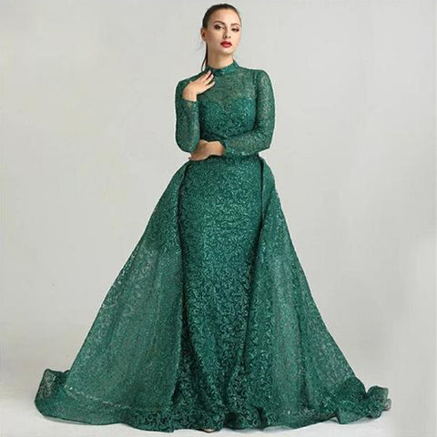 Adalie Soiree Gown- Green - Top Glam Shop