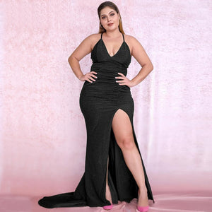 Amaia Gown- Black (Curve) - Top Glam Shop