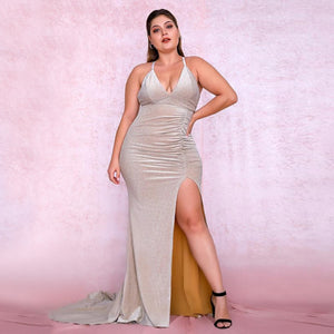 Amaia Gown- Oyster (Curve) - Top Glam Shop