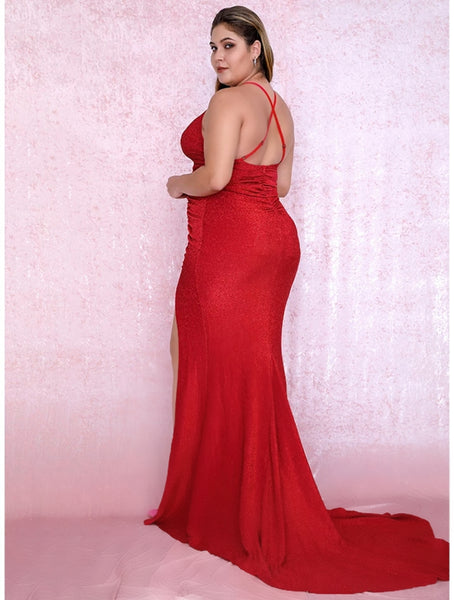 Amaia Gown- Red (Curve) - Top Glam Shop