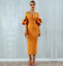 Amal Bandage Dress- Tangerine