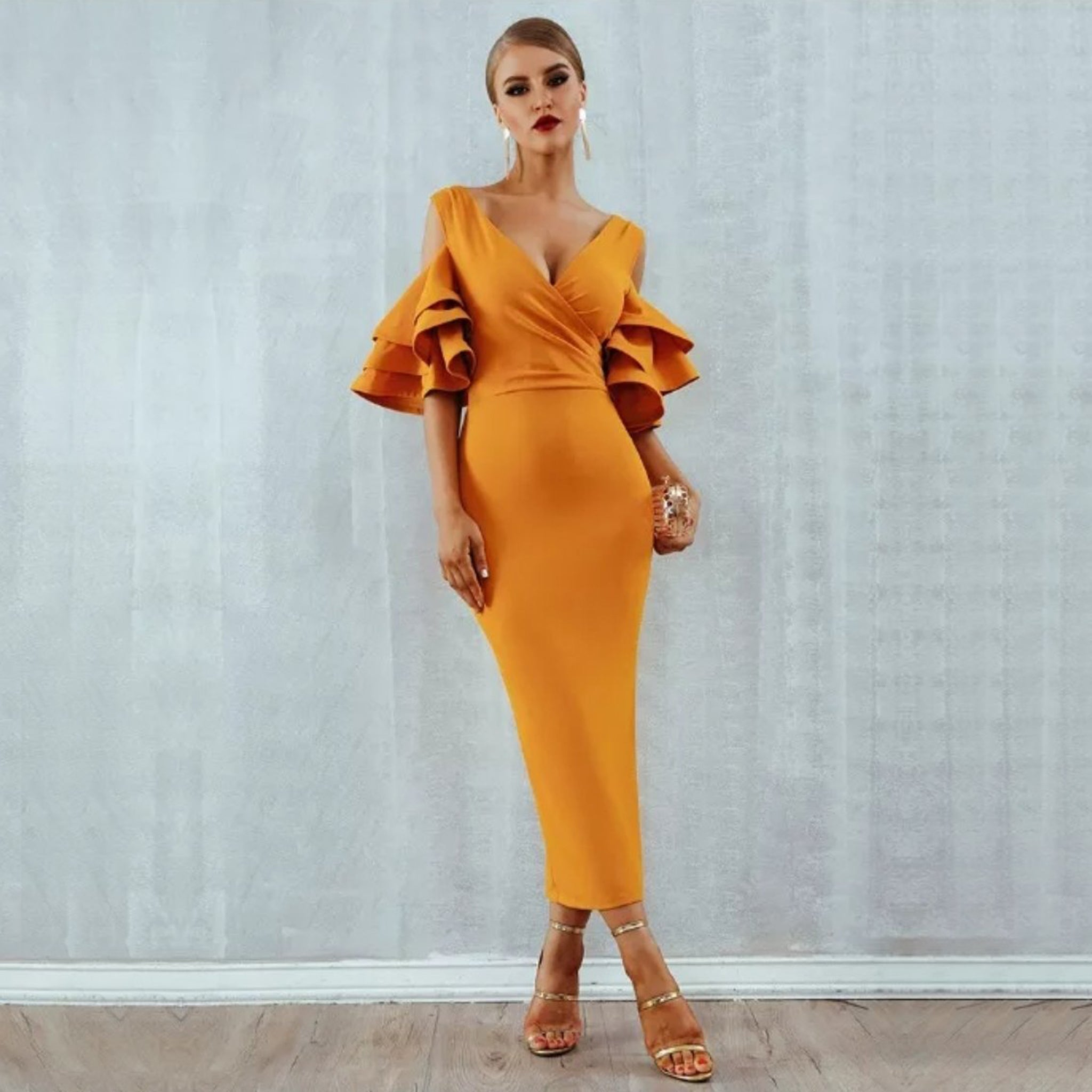 Amal Bandage Dress- Canary - Top Glam Shop
