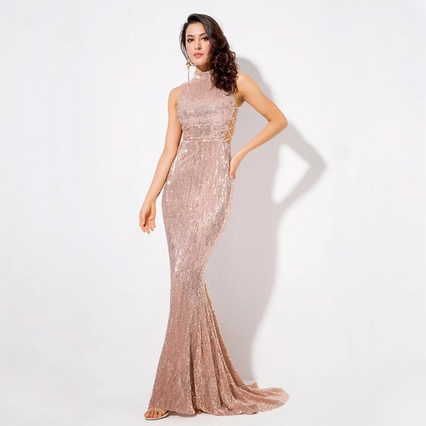 Amelia Gown- Gold - Top Glam Shop