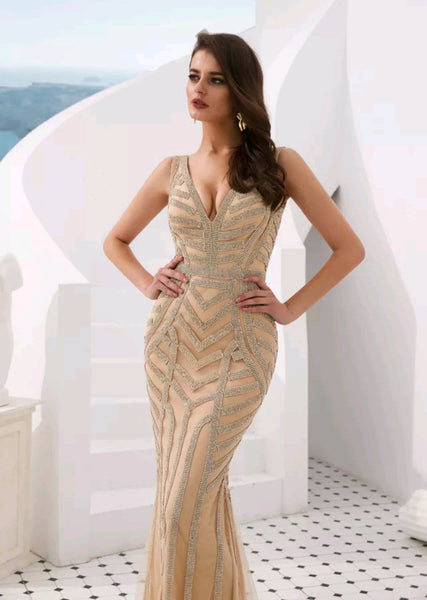 Amora Crystal Gown - Top Glam Shop