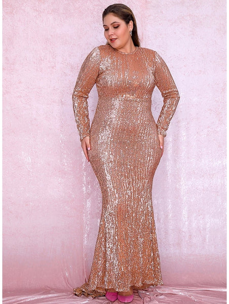 Araceli Gown- Gold (Curve) - Top Glam Shop