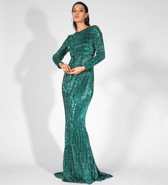 Araceli Gown- Emerald - Top Glam Shop