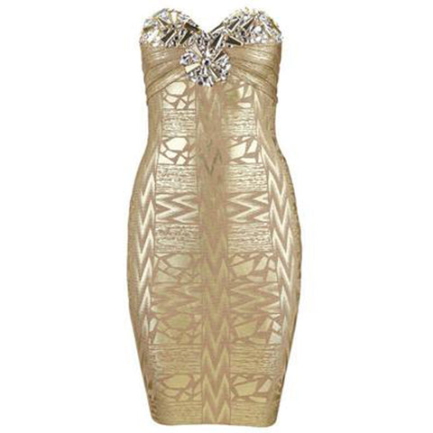 Bedazzled Bandage Dress - Top Glam Shop