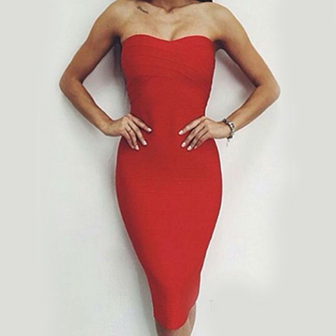 Bridget Bandage Dress - Top Glam Shop