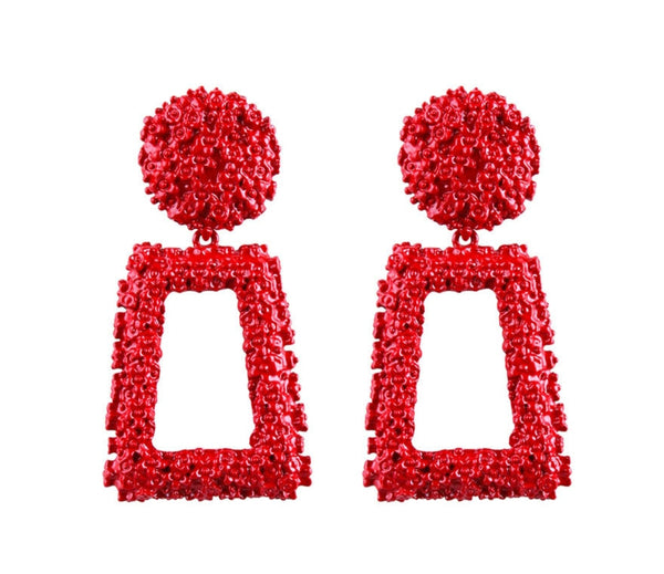 Cleopatra Statement Drop Earrings- 6 Colors - Top Glam Shop