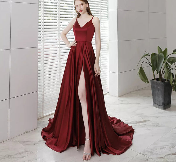 Eliana Satin Gown - Top Glam Shop