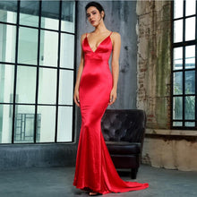 Emilia Sateen Gown- Red