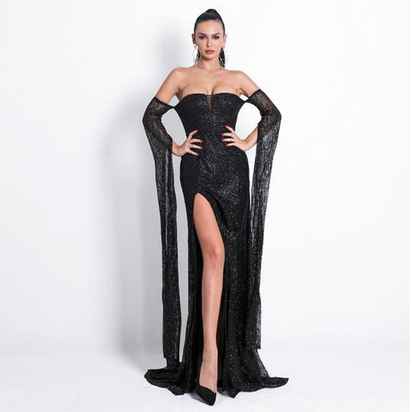 Empress Gown- Black - Top Glam Shop