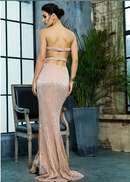 Enchanted Gown- Gold - Top Glam Shop