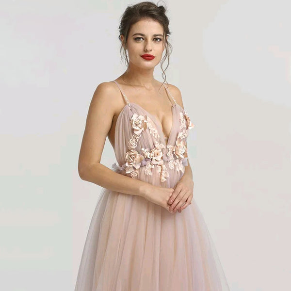 Esmeralda Floral Tulle Gown - Top Glam Shop