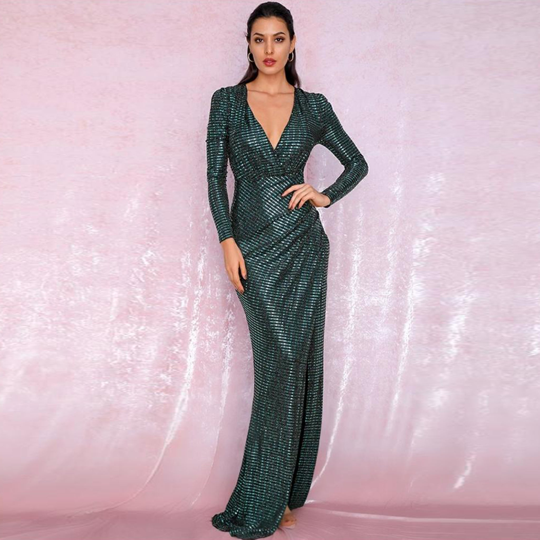 Vanessa Gown- Emerald - Top Glam Shop
