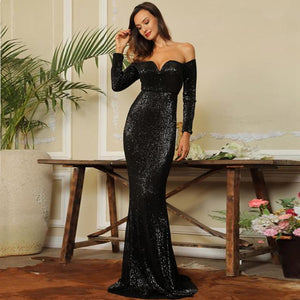 Giselle Gown- Black - Top Glam Shop