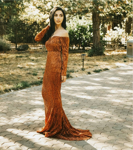 Giselle Gown- Rust