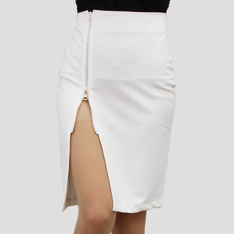 Zoey Skirt- White - Top Glam Shop