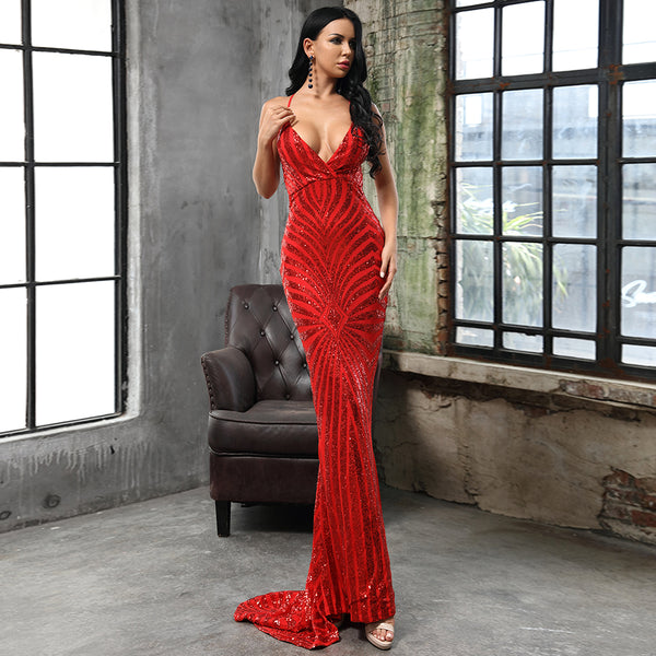 Hope Gown- Red - Top Glam Shop