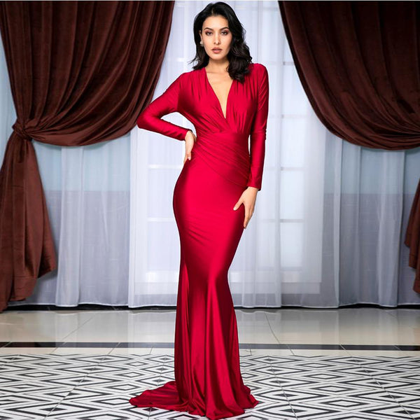 Jamila Gown- Red - Top Glam Shop