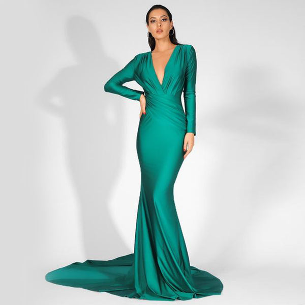 Jamila Gown- Emerald - Top Glam Shop