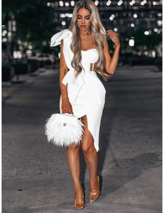 Kaydence Ruffled Dress- White