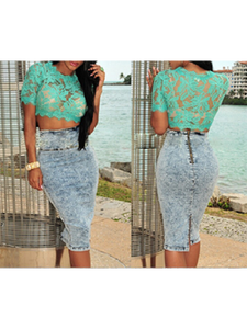 Lover's Crop Top- Teal - Top Glam Shop