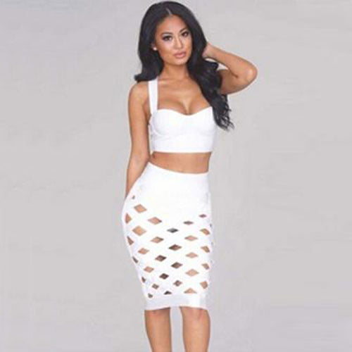 Layla Bandage Dress- White