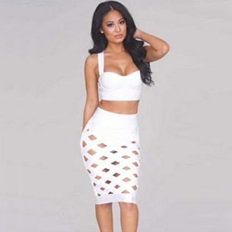 Layla Bandage Dress- White - Top Glam Shop