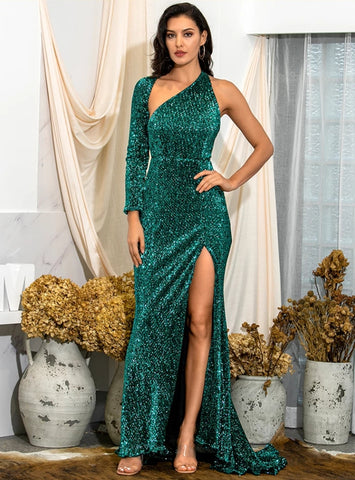 Madison Gown- Emerald - Top Glam Shop