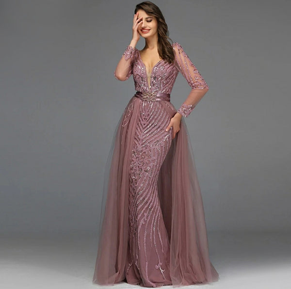 Aurelia Embellished Gown- Wild Rose - Top Glam Shop