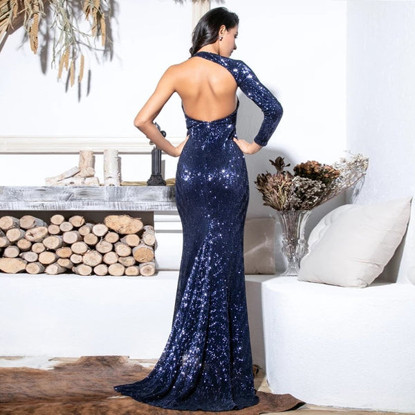 Madison Gown- Navy - Top Glam Shop