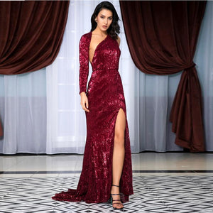 Madison Gown- Deep Red - Top Glam Shop