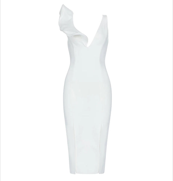 Melia Bandage Dress- White
