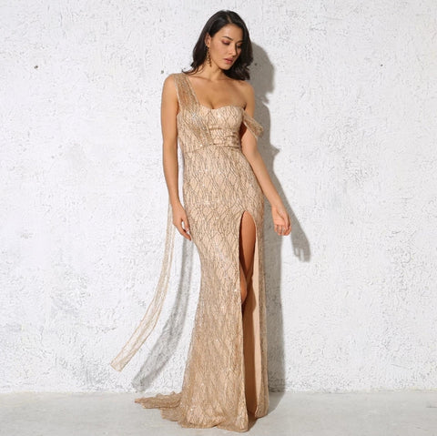Dominique Gown- Gold - Top Glam Shop