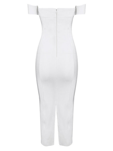 Zeena Bandage Dress- White - Top Glam Shop