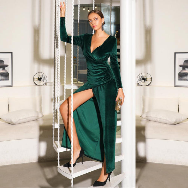 Savannah Gown- Emerald - Top Glam Shop