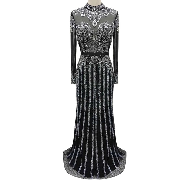 Sepideh Rhinestone Embellished Gown