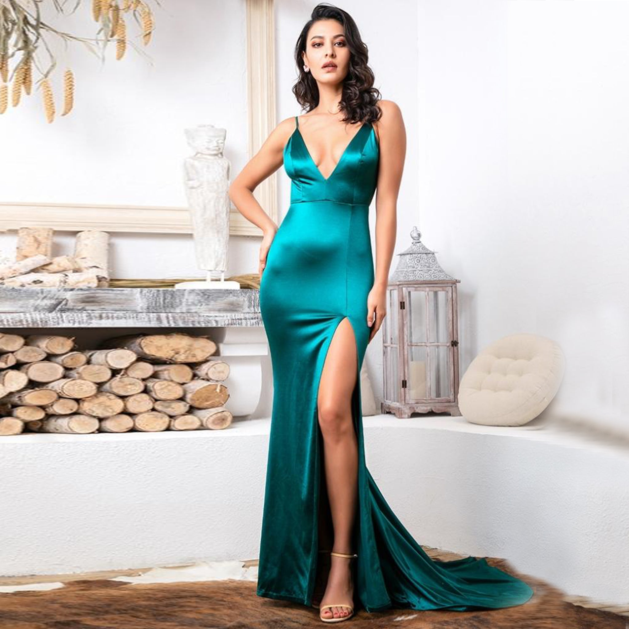Serafina Gown- Emerald - Top Glam Shop
