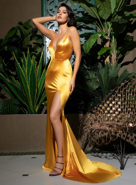 Serafina Gown- Yellow - Top Glam Shop
