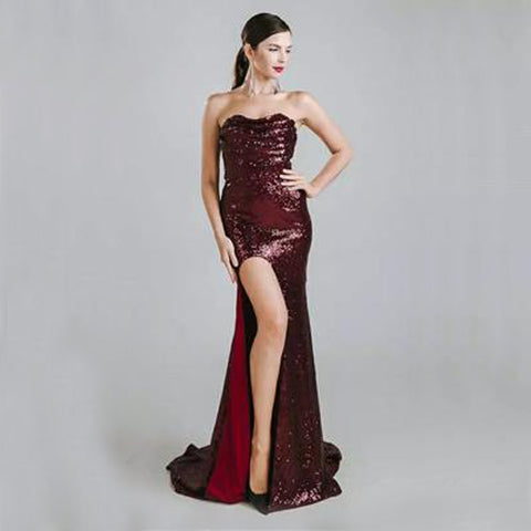 Seville Gown- Deep Red - Top Glam Shop