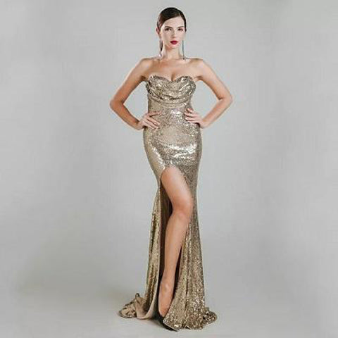Seville Gown- Gold - Top Glam Shop