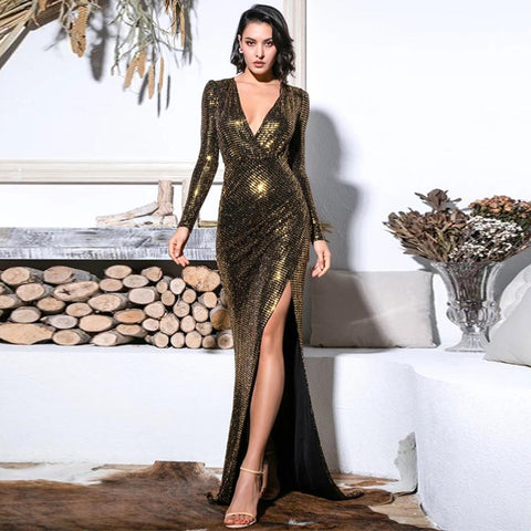 Vanessa Gown- Gold - Top Glam Shop