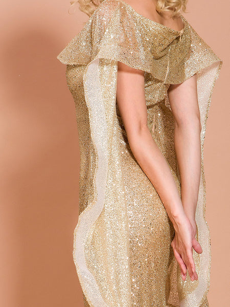 Shirina Sequin Dress- Gold - Top Glam Shop