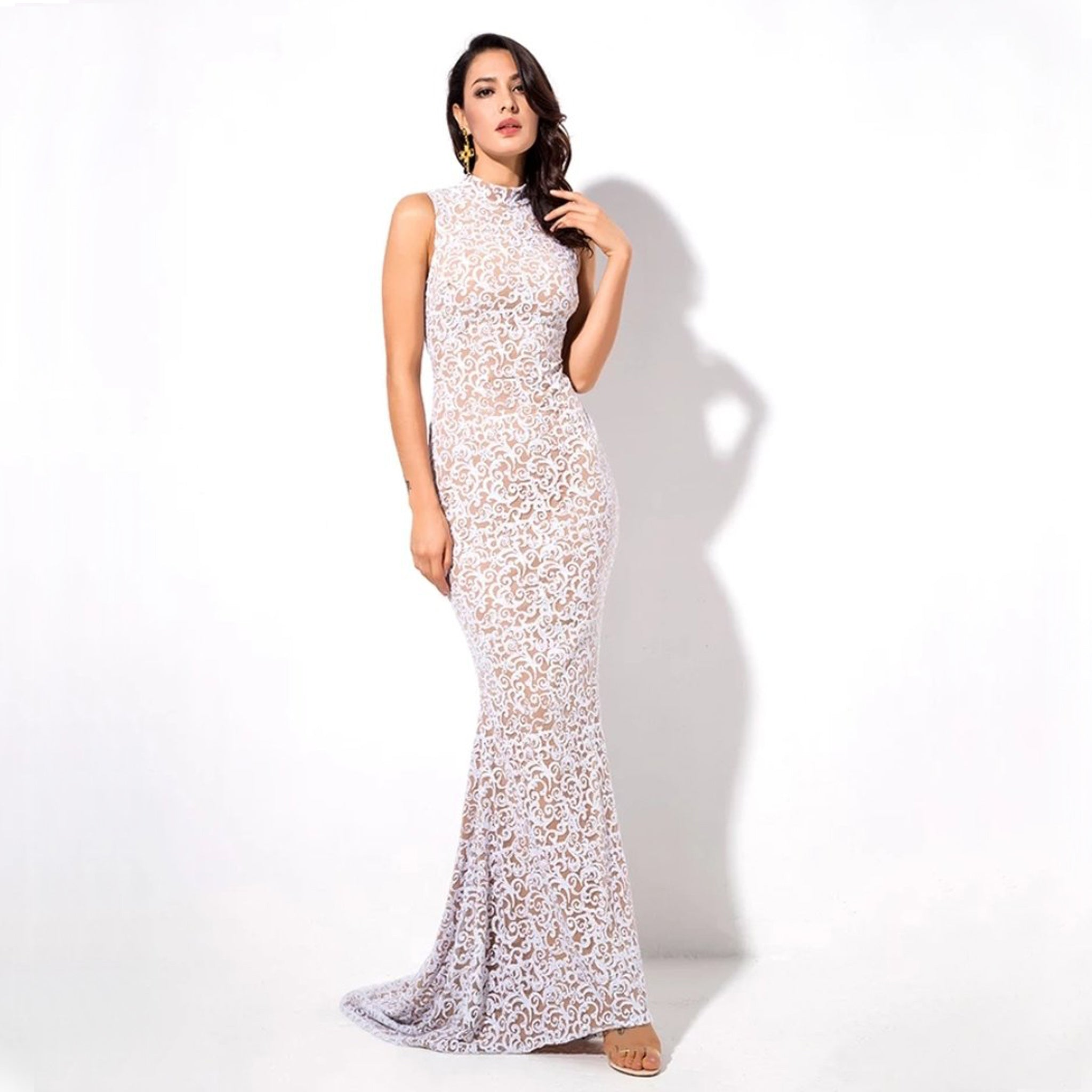Sicily Gown- White - Top Glam Shop